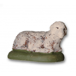 Santon mouton couché 9cm