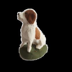 Santon chien assis 9cm